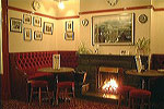 Open fire in the Georgian Bar
